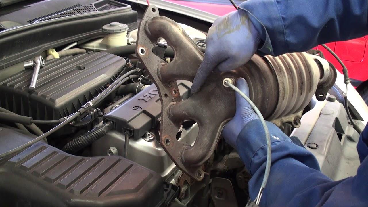 2001 2005 honda civic combination exhaust manifold catalytic converter replacement