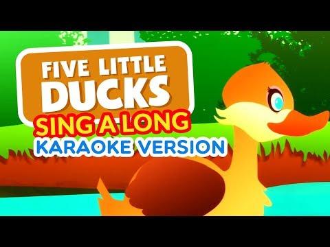 Five Little Ducks | Karaoke Version With Lyrics HD | children Nursery Rhyme | Kids Songs