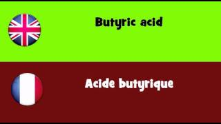 FROM ENGLISH TO FRENCH = Butyric acid