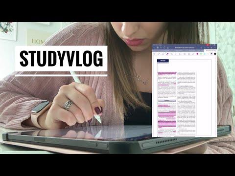 STUDY VLOG: LENDO ARTIGO NO IPAD | Julia Pabis