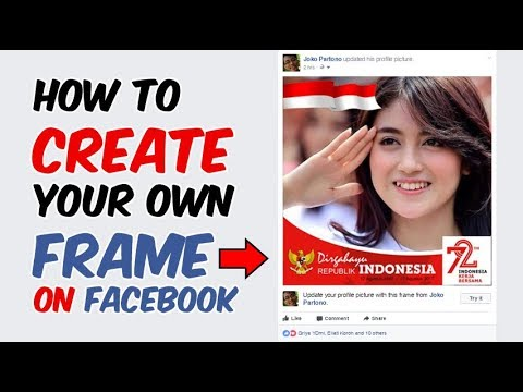 How To Create a Facebook Profile Picture Frame | Tutorial - YouTube