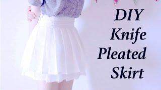 DIY Knife Pleated Skirt (double-layered)ㅣmadebyaya