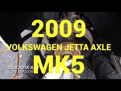 2009 Volkswagen Jetta axle replacement