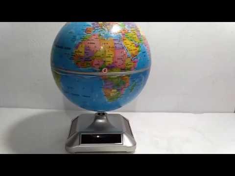 Globe display datar solar power