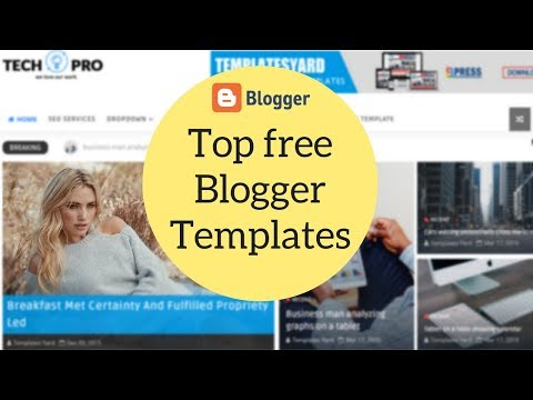 Top Premium Looking Free Blogger Templates | Best of 2018