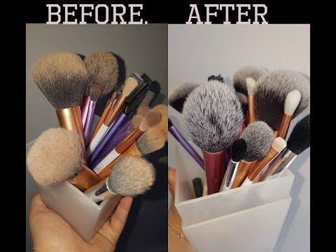 How To Wash Your Makeup Brushes   Easy Makeup Brush Washing Tutorial