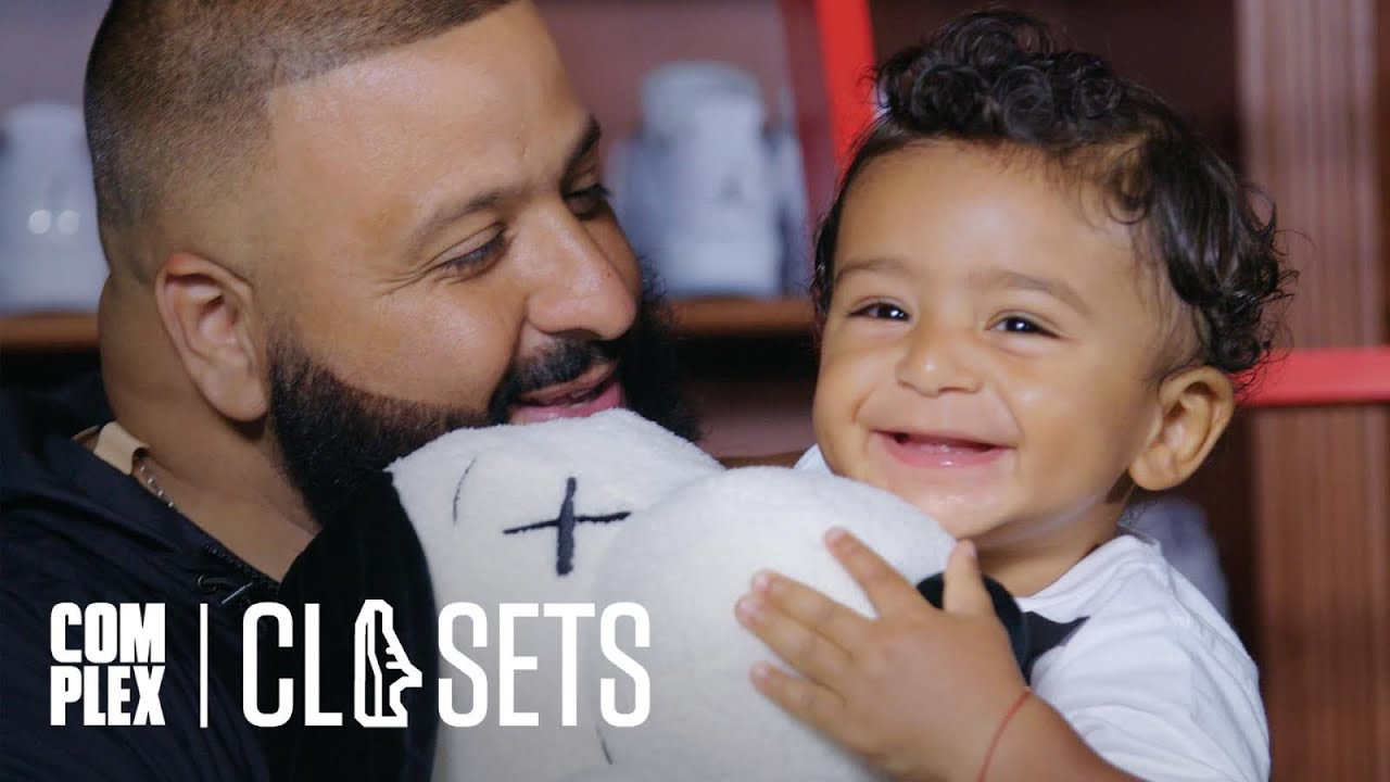 the latest 55a00 4a517 DJ Khaled and Asahd Khaled Show Off Their Sneaker Collections On Complex  Closets