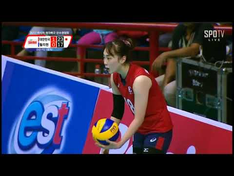 Korea VS Philppines Asia Woman Volleyball 2017