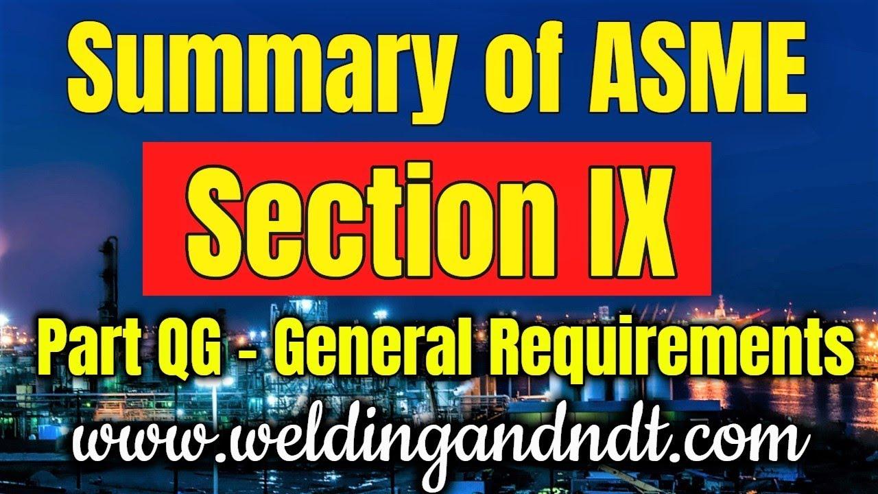 [English] ASME section IX - Part 1