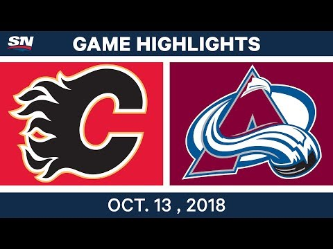 NHL Highlights | Flames vs. Avalanche - Oct. 13, 2018