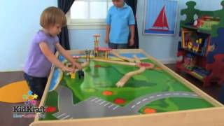 Wooden Train Set Childrens Activity Play Table Kidkraft 17851