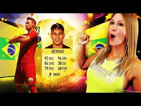I PACKED NEYMAR IN A FREE PACK FROM EA!! FIFA 18