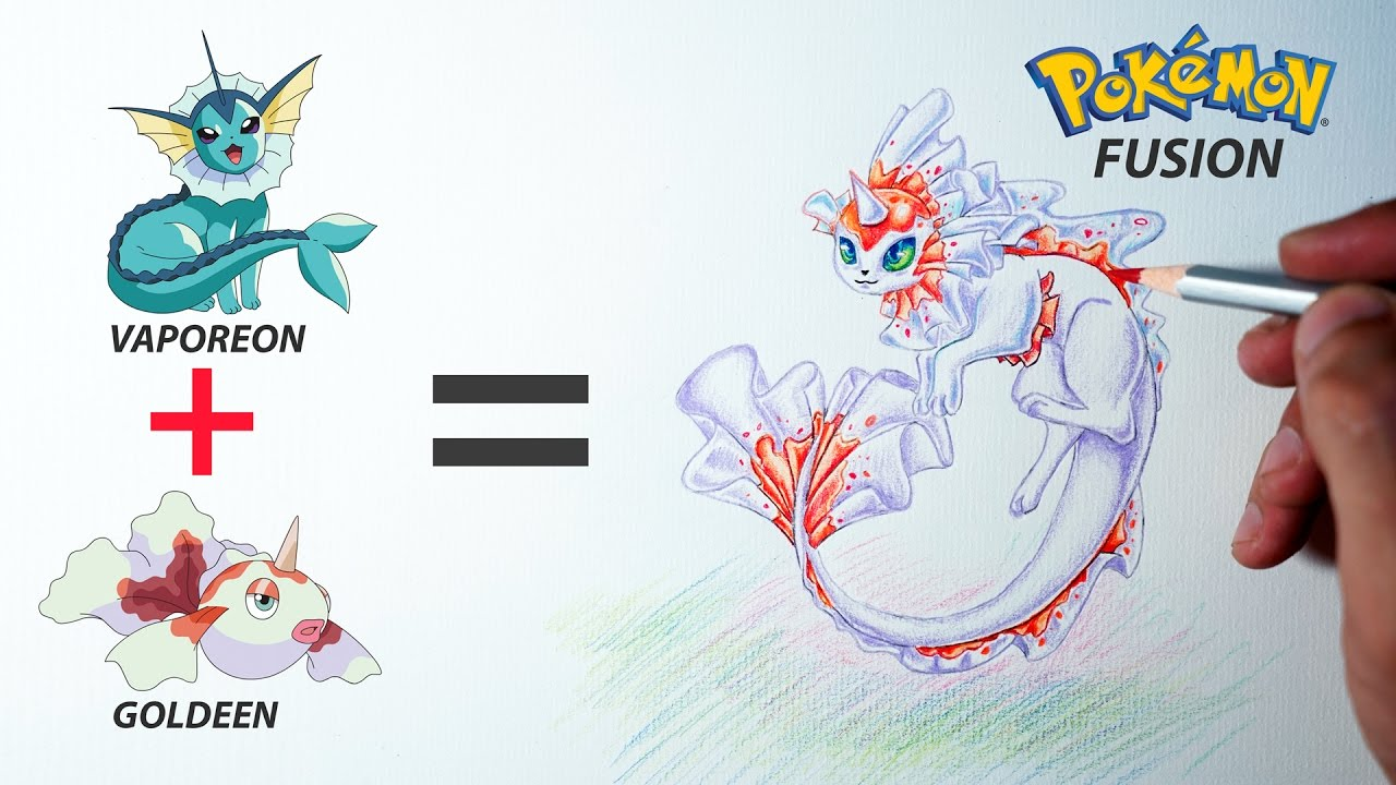 Préférence Pokemon Fusion Drawing - VAPOREON + GOLDEEN #4 - YouTube NZ14