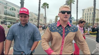 donald trump rally protest san diego part 3