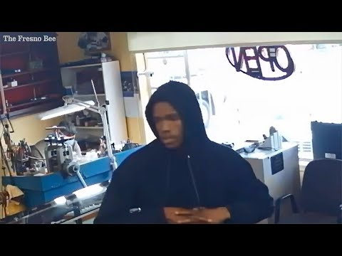 Robbery beating at jewelry store caught on camera youtube for Jewelry repair fresno ca