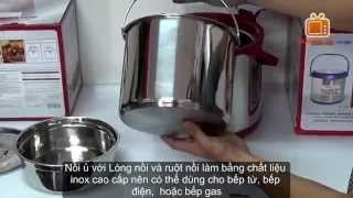 Nồi ủ KHALUCK.HOME KL-711 6.0 Lit, Review thermo pot thermal cooking