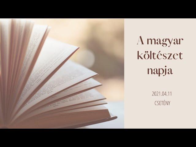 A Magyar Költészet Napja, Csetény, 2021.