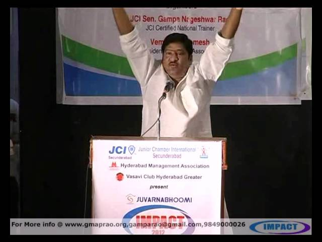 NATAKIRITI Dr. RAJENDRA PRASAD at IMPACT 2012  valedictory, Hyderabad Travel Video