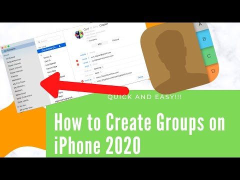 How to Create Groups on iPhone 2020
