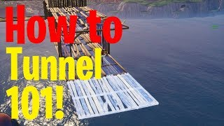 How to Tunnel in Fortnite! How to Get Better at Fortnite! Fortnite Tips!