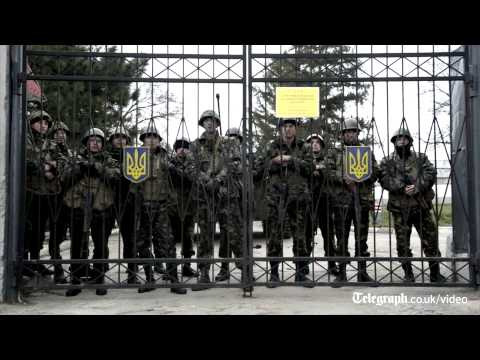 Uneasy standoff between Ukrainian and Russia troops in Crimea