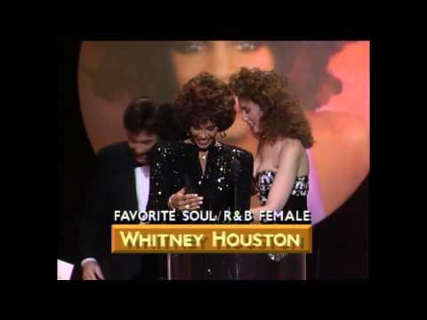 AMA 1989 Whitney Houston Wins Soul R&B Female