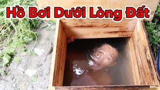 Lâm Vlog - Thử Bơi Dưới Lòng Đất | Hồ Bơi Dưới Lòng Đất | Build Swimming Pool Underground