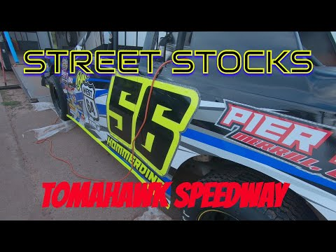 Tomahawk Speedway street stock feature. Driver: Ethan (Wreck-it Ralph) Hommerding. - dirt track racing video image
