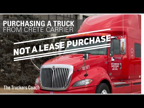 Crete Carrier Owner Operator Tractor Purchase Program