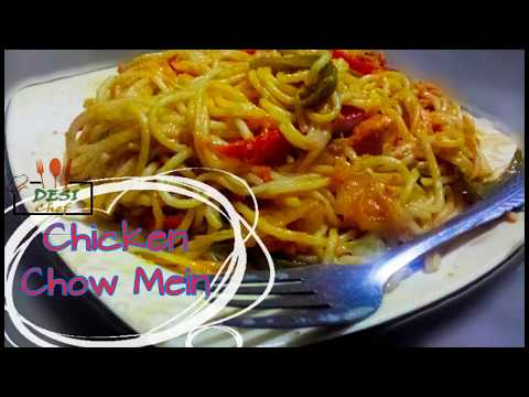QUICK AND EASY CHICKEN CHOWMEIN/SPAGHETTI RECIPE. SPICY CHICKEN CHOW MEIN RECIPE