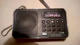 L - 938 FM Radio MP3 Audio Player