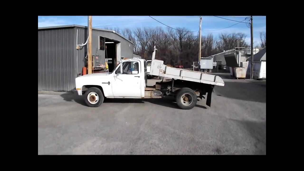 1988 chevrolet custom deluxe r30 flatbed truck for sale sold at auction march 4 2014