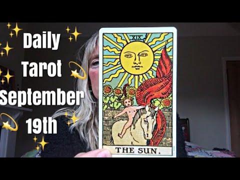 Daily tarot reading for 19 September 2017 🙏✨ Feel the sunshine and let the guilt go.. 🙏✨