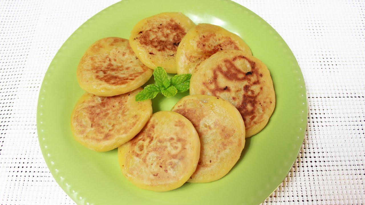 Chinese Pumpkin Banana Pancakes 糯米南瓜饼 Youtube