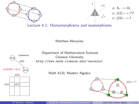 Visual Group Theory, Lecture 4.1: Homomorphisms and isomorph