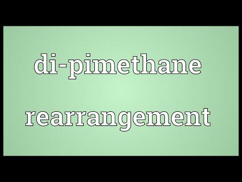 Di-pimethane rearrangement Meaning