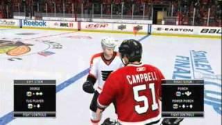 NHL 11 Demo Gameplay
