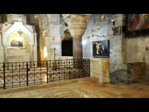 The place where St. Helena found the cross of Christ. The Church of the Holy Sepulchre, Jerusalem