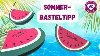 Wassermelone basteln aus Papier