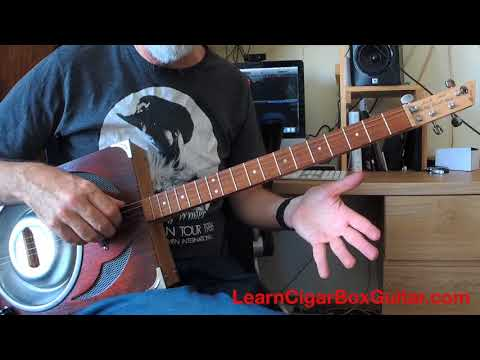 Building Chords On A Four String Cigar Box Guitar