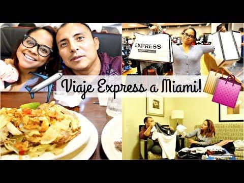 NUESTRO VIAJE EXPRESS A MIAMI + NUESTRAS SUPER COMPRAS RAPIDAS!! VLOGS DIARIOS #168