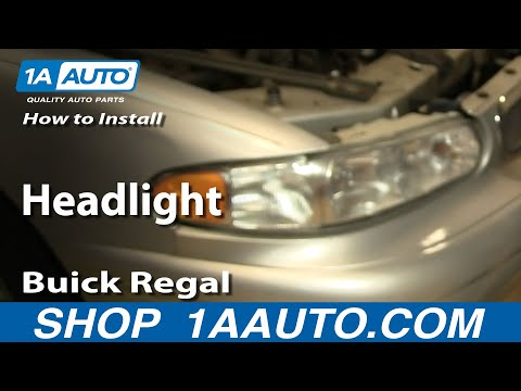 video how to install replace headlight buick regal. Black Bedroom Furniture Sets. Home Design Ideas