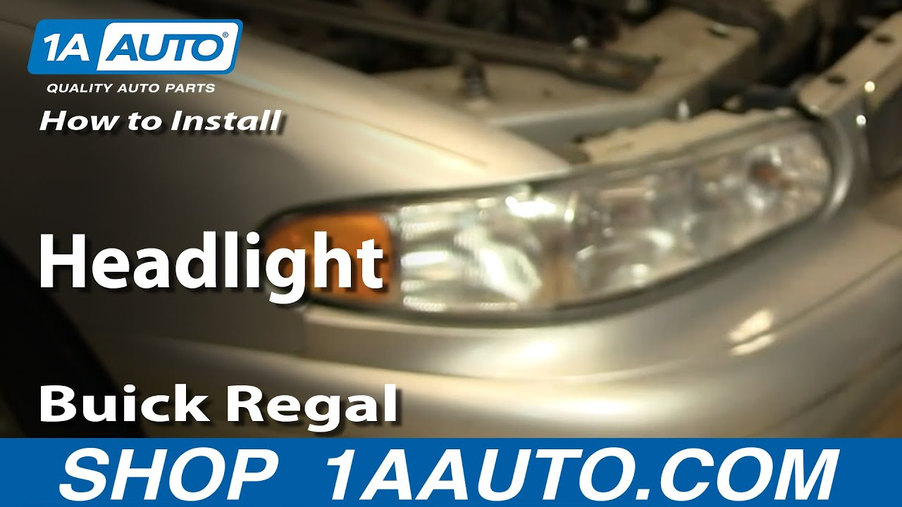 how to install replace headlight buick regal century 97 05 1aauto rh youtube com