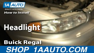 How To Install Replace Headlight Buick Regal Century 97-05 1AAuto.com