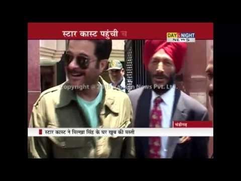 Farhan Akhtar And Cast Of 'Dil Dhadakne Do' Meet Milkha Singh | Chandigarh