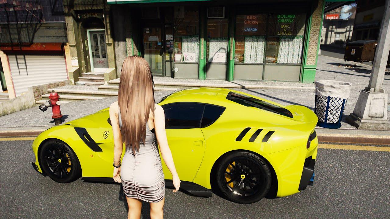 GTA 6 Graphics - RTX 3090 8k Resolution! Ferrari F12tdf NEW YORK City Gameplay! RAY-TRACING GTA V