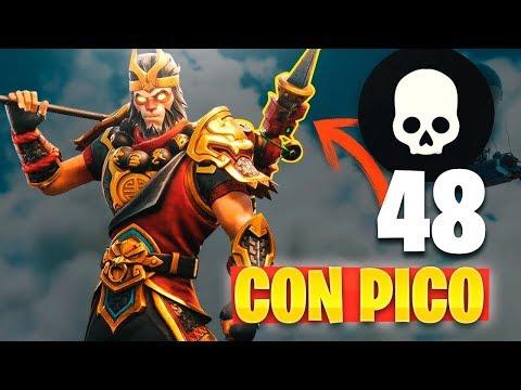 48 KILLS Con PICO!! REACCIONANDO (Fails en FORTNITE: Battle Royale)