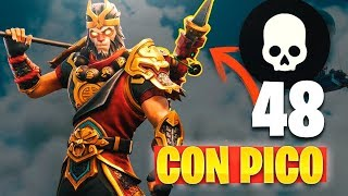 48 KILLS Con PICO!! REACCIONANDO (Fails en FORTNITE: Battle Royale)
