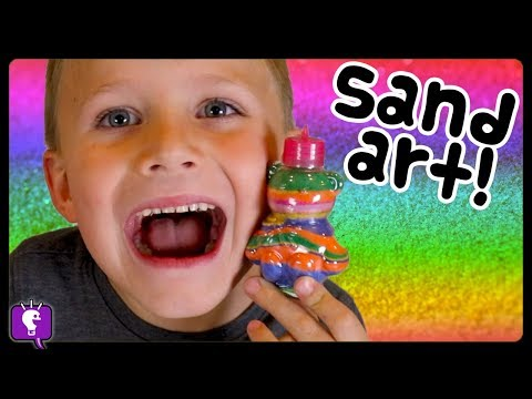 Sand GLITTER Arts and Crafts with HobbyKids! Color Layers in Fun Tubes