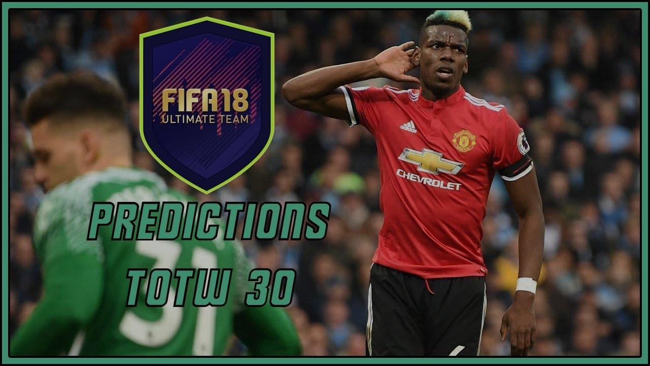 Totw 30 Predictions Fifa 18